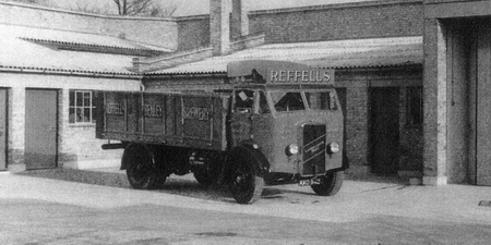 ERF lorry in later livery